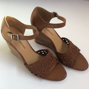 Lucky Brand Brown Wedges Size 9.5